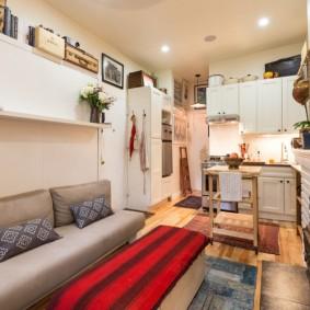 ремонт однокомнатной квартиры фото интерьера