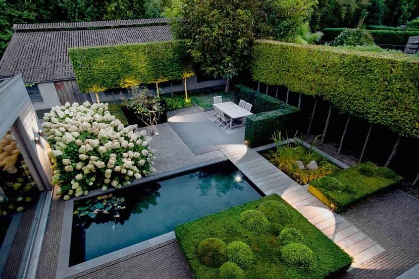 Минимализм в ландшафтном дизайне садового участка