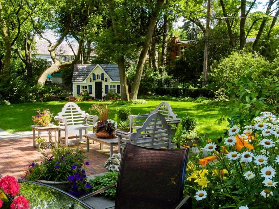 садовый участок 6 соток в деревенском стиле