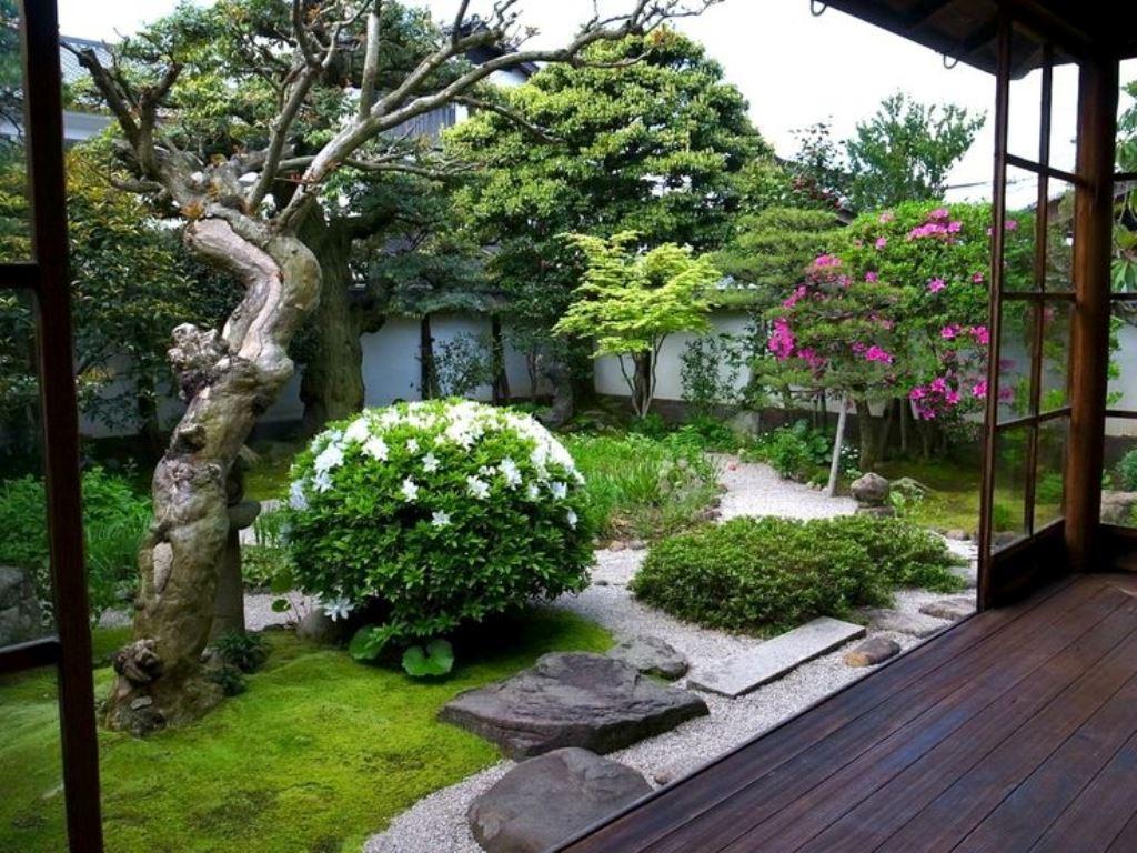 садовый участок 6 соток японский стиль идеи