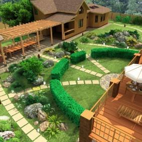 садовый участок площадью 6 соток декор