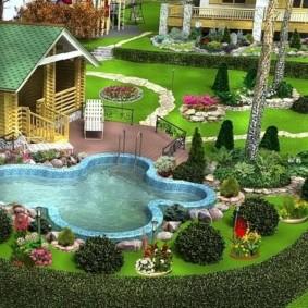 садовый участок площадью 6 соток декор фото
