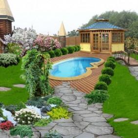 садовый участок площадью 6 соток фото дизайн