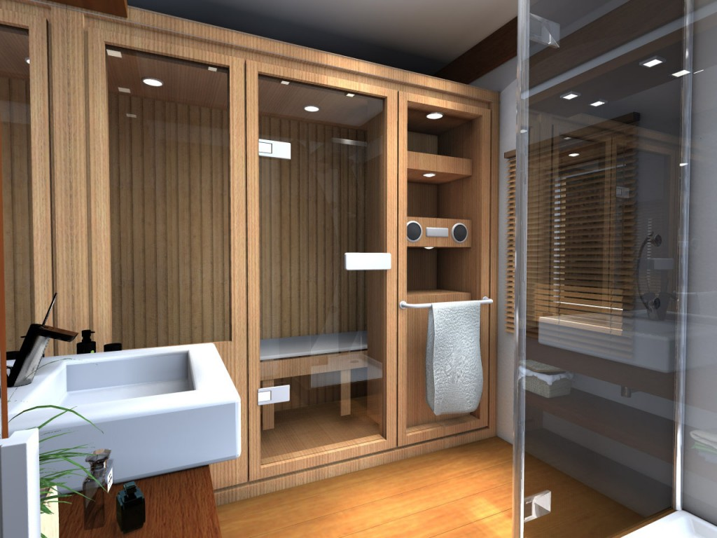 Встроенная сауна на заказ в ванную комнату
