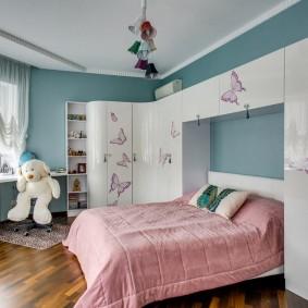 шкаф в детскую комнату фото