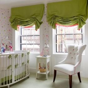 шторы в детскую комнату идеи интерьер