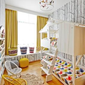 шторы в детскую комнату фото виды