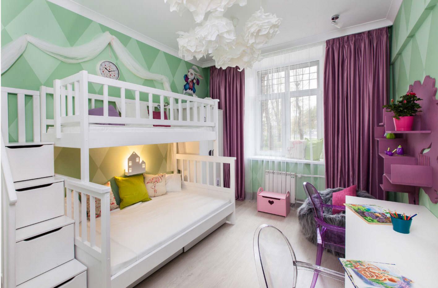 шторы в детскую комнату фиолетовые