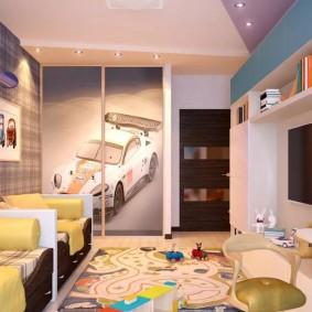 современная детская в квартире идеи интерьер