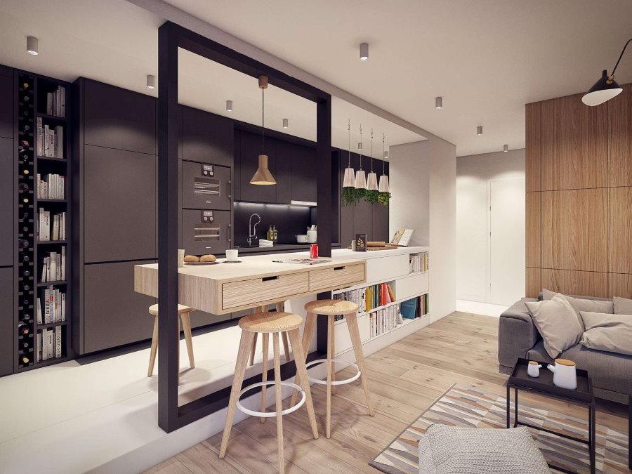 Дизайн современной квартиры-студии небольшого размера