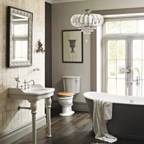 современная ванная комната декор