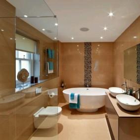 современная ванная комната идеи виды