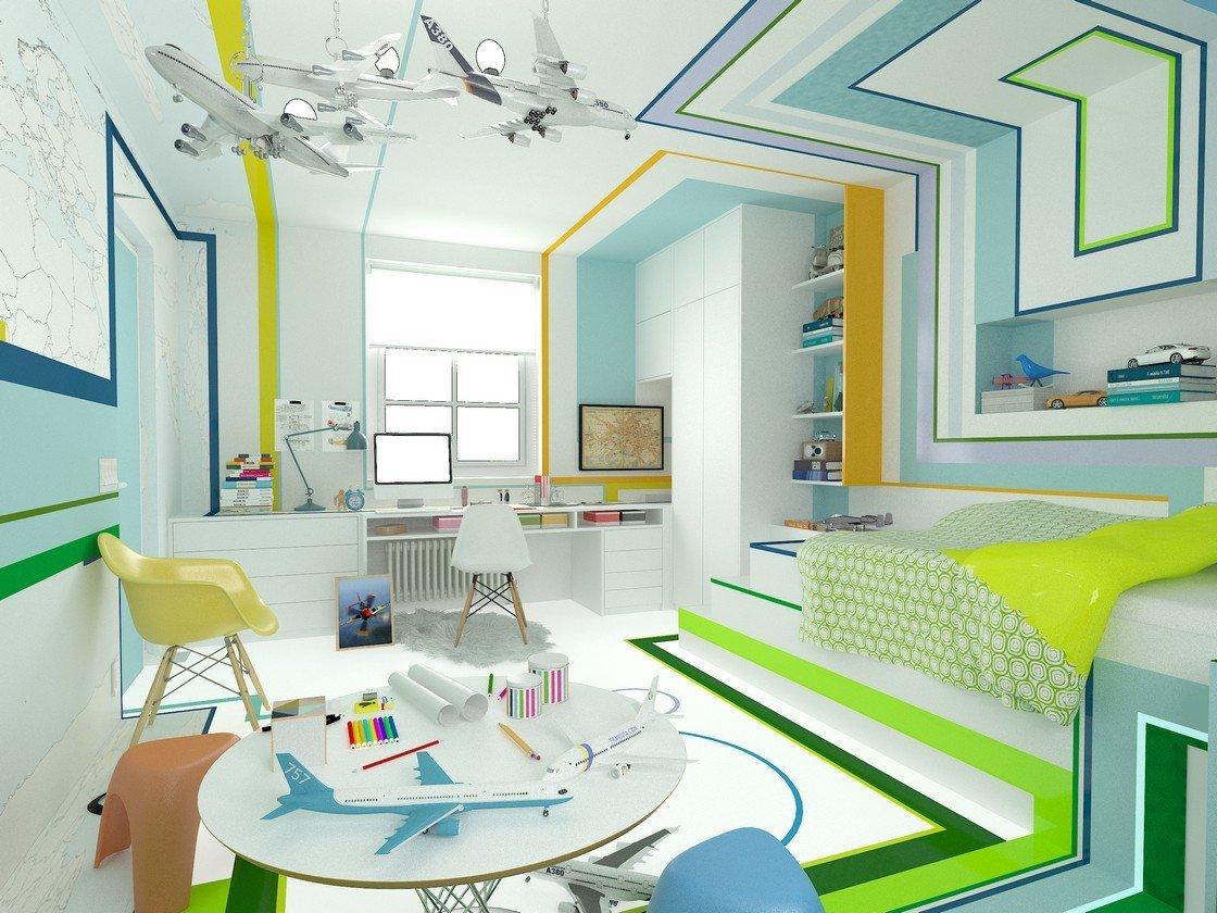 современный дизайн детской комнаты фото идеи