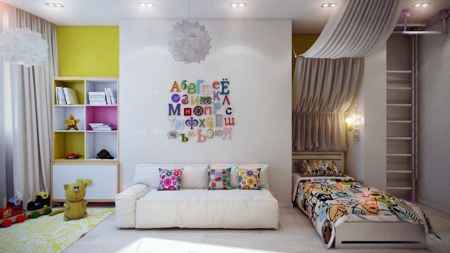 современный дизайн детской комнаты фото