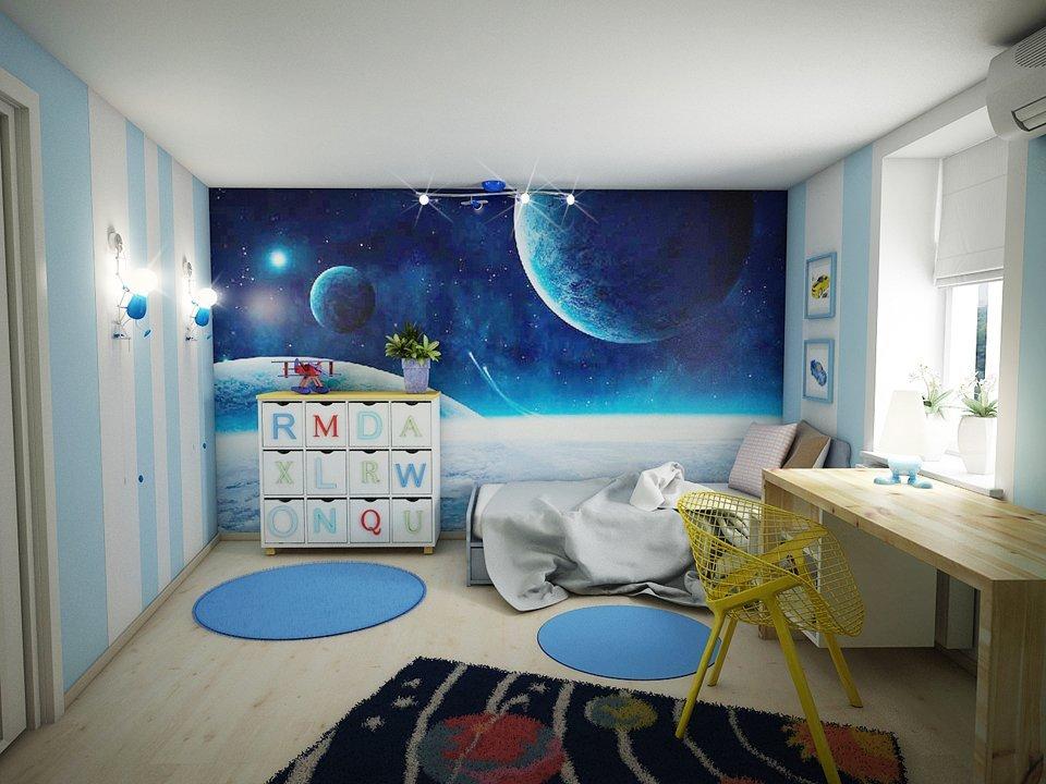 современный дизайн детской комнаты идеи фото