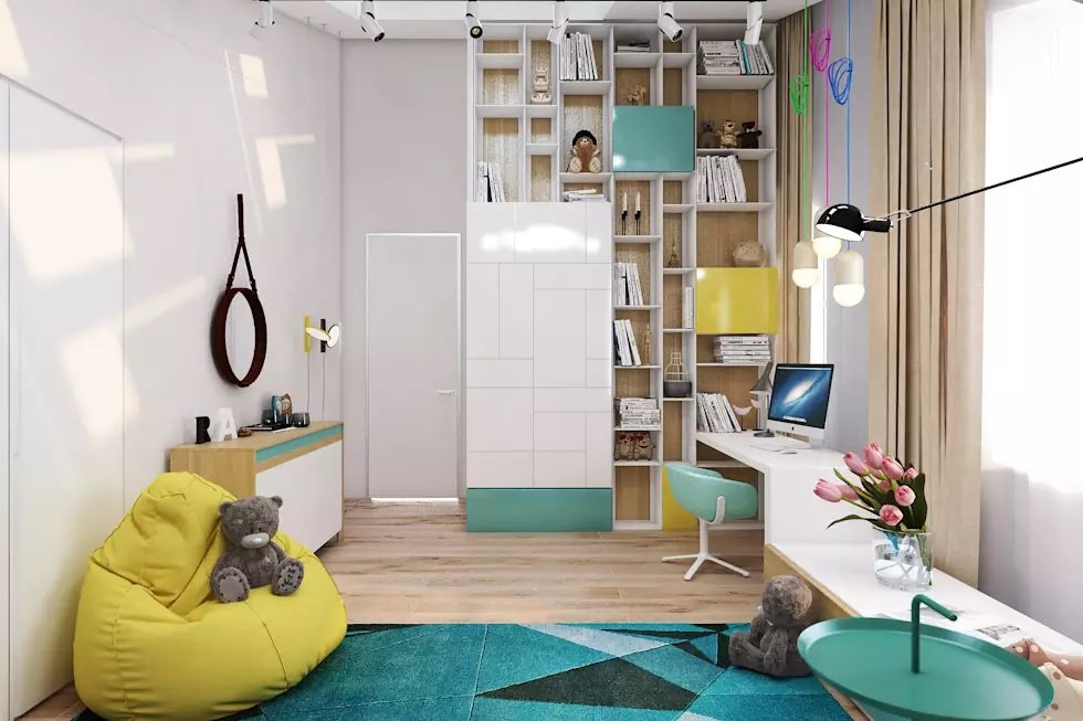 современный дизайн детской комнаты идеи