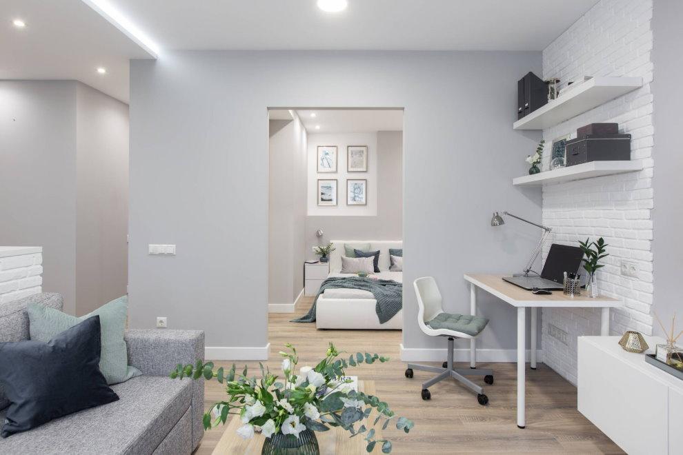 Светлая квартира в современном стиле