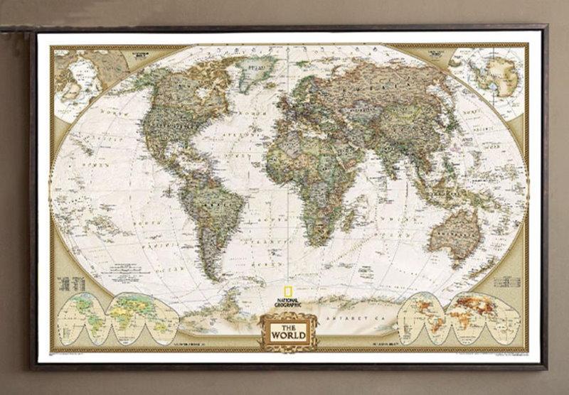 Детский постер карта мира