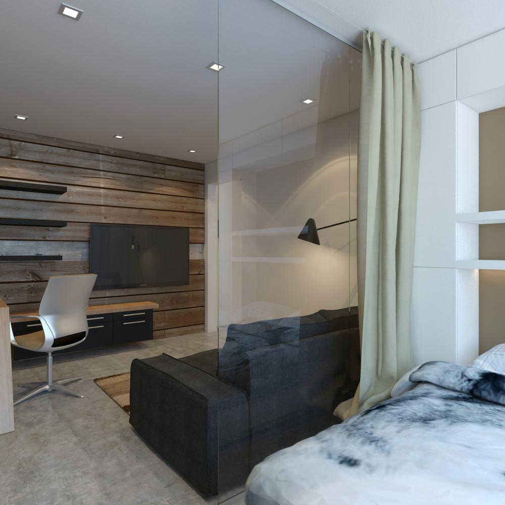 Зонирование спальни-гостиной в однушке