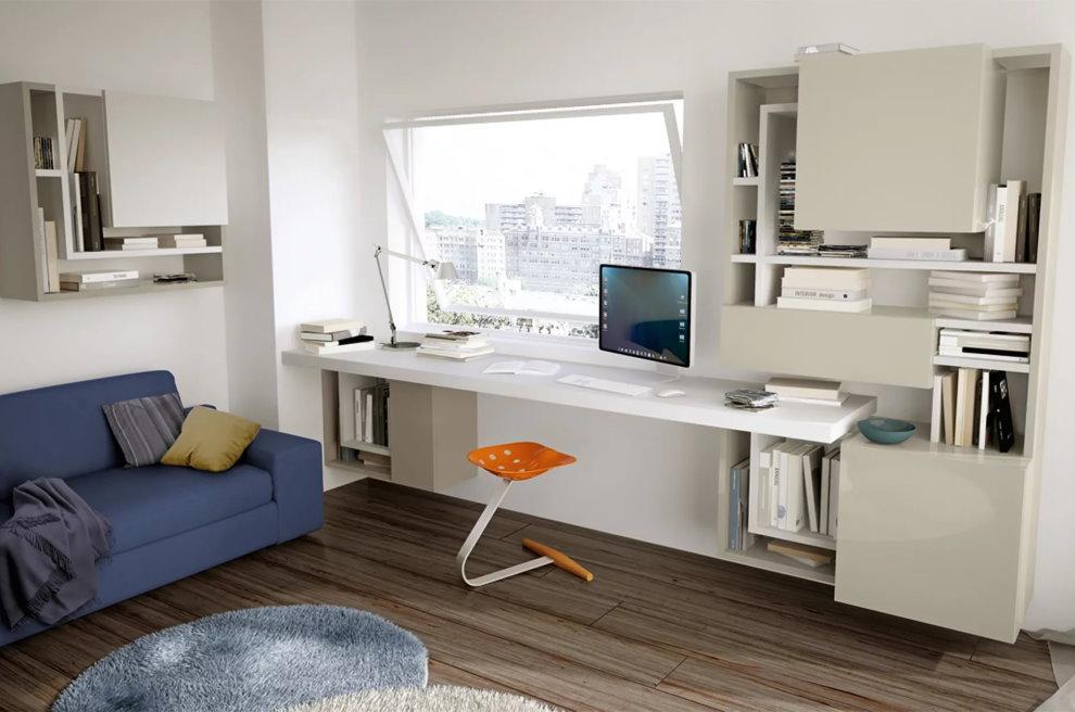 Комбинированная мебель в комнате подростка