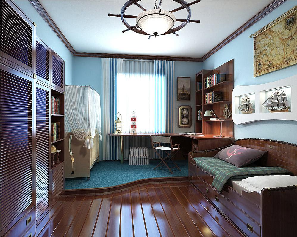 Уголок школьника в маленькой однокомнатной квартире