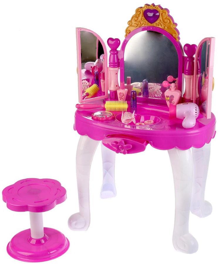 Пластиковый косметический столик для маленькой девочки