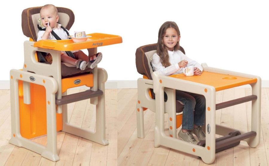 Варианты трансформации многофункционального детского стульчика