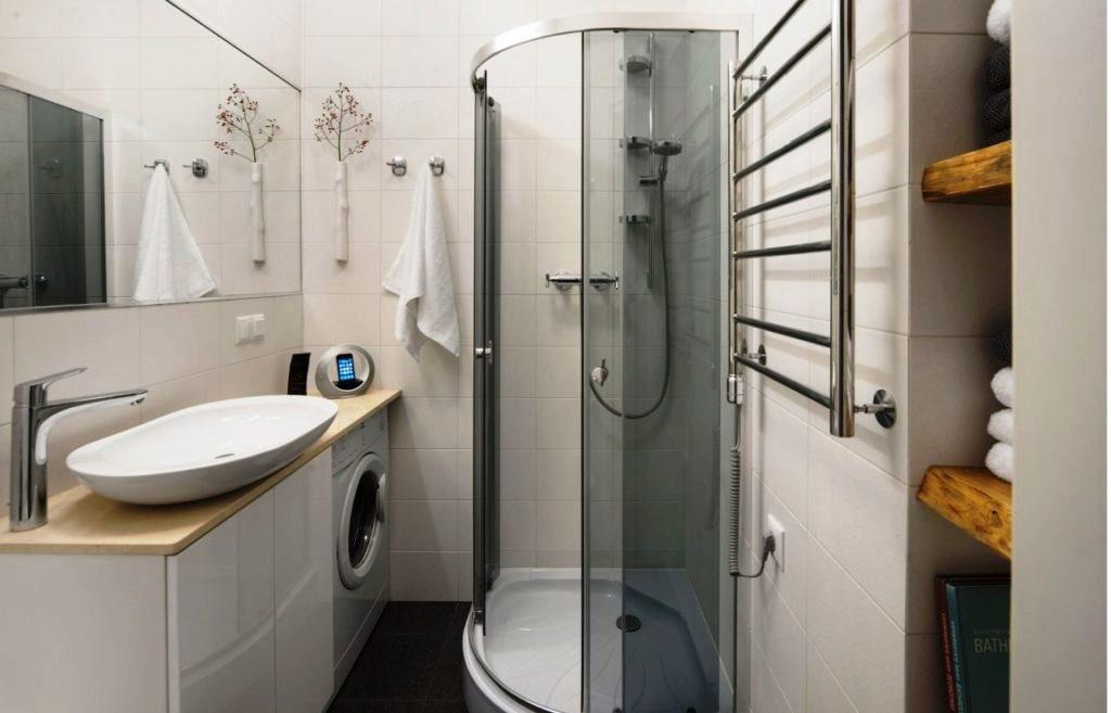 светлая ванная комната в хрущевке