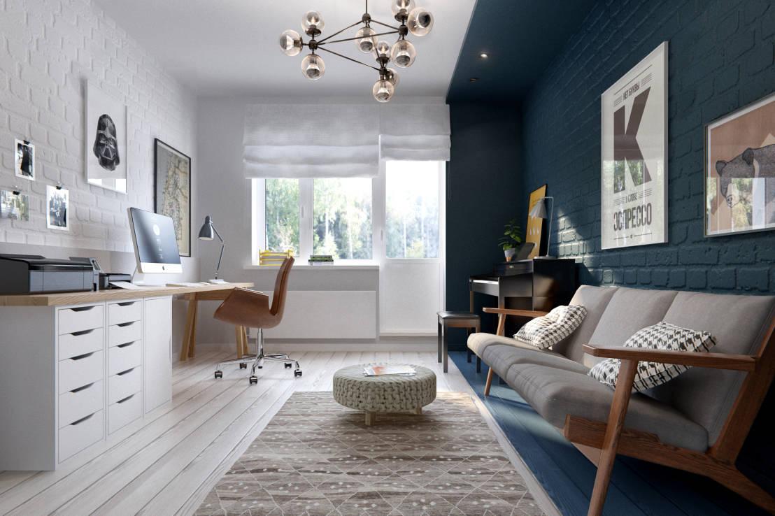 интерьер современного кабинета дома