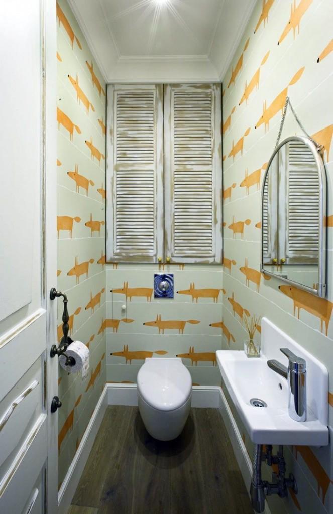 Оригинальный интерьер туалета в квартире серии 44 Т