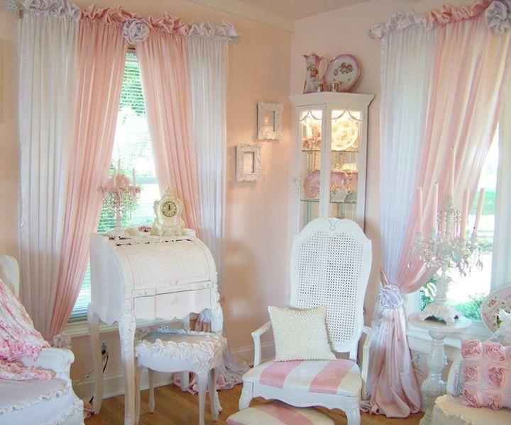 Тюль для комнаты девочки в стиле шебби шик