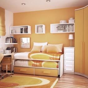 угловой шкаф в детскую комнату идеи дизайн