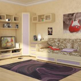 угловой шкаф в детскую комнату фото декор