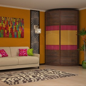 угловой шкаф в детскую комнату идеи декор