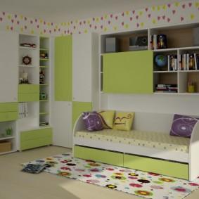 угловой шкаф в детскую комнату идеи