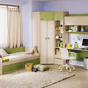 угловой шкаф в детскую комнату фото интерьера