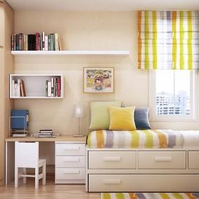 угловой шкаф в детскую комнату интерьер идеи