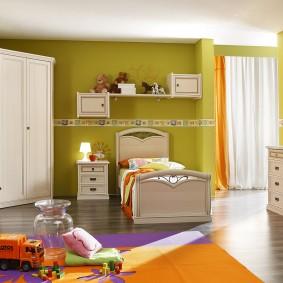 угловой шкаф в детскую комнату идеи интерьер