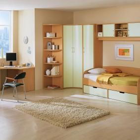 угловой шкаф в детскую комнату идеи интерьера