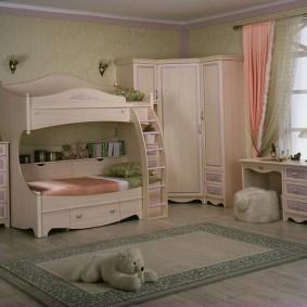 угловой шкаф в детскую комнату фото оформление