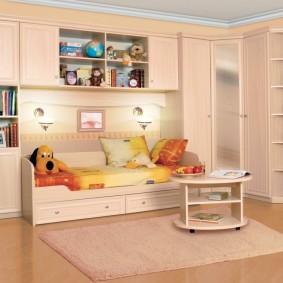 угловой шкаф в детскую комнату идеи фото