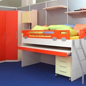 угловой шкаф в детскую комнату оформление идеи
