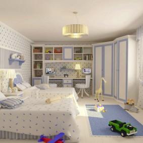угловой шкаф в детскую комнату идеи оформления