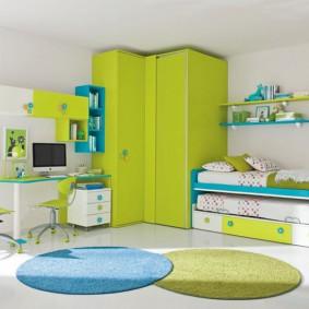 угловой шкаф в детскую комнату варианты