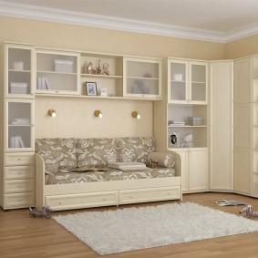 угловой шкаф в детскую комнату идеи варианты