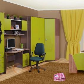 угловой шкаф в детскую комнату идеи вариантов