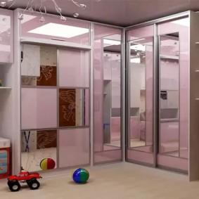 угловой шкаф в детскую комнату виды