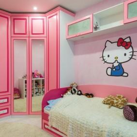 угловой шкаф в детскую комнату фото виды