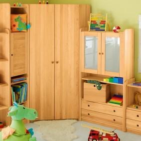 угловой шкаф в детскую комнату виды идеи