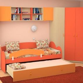угловой шкаф в детскую комнату идеи виды